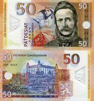 Czechoslovakia 50 Korun Specimen Test Polymer Banknote 2019 Fantasy Issue