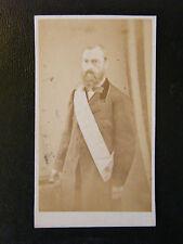 Photographie Alphonse Audouin Echarpe de Franc Maçon XIX ème Siècle