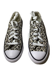 CONVERSE  Sneakers 1y Youth All Star Animal Print Shoes Brown