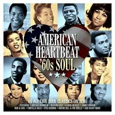 AMERICAN HEARTBEAT - '60s SOUL - 60 CLASSICS - VARIOUS ARTISTS (NEW SEALED 3CD)