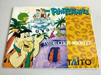 The Flintstones by TAITO NES instruction booklet Only ( NO GAME ) rare