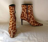 Ralph Lauren MEDORA Giraffe Pattern Calf Hair Fashion Boots Womens Size 6.5 NEW