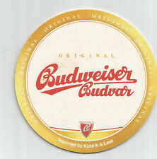 """Budweiser Budvar """"imported by Kolarik & Leeb"""" - österreichischer Bierdeckel"""