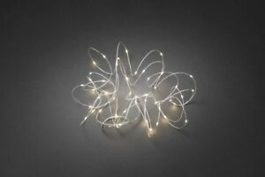 Christmas Party Warm White Fairy String Lights 50 LED Flexible White Wire Plug