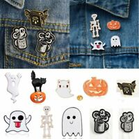 Halloween Pumpkin Ghost Devil Enamel Brooch Pin Collar Badge Jewellery Gifts Hot