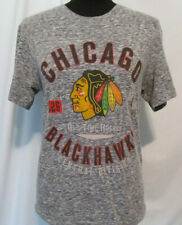 Chicago Blackhawks NHL Womens Size Small Gray Tee Shirt Top Old Time Hockey