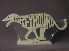 Running Greyhound Dog Wooden Amish Scroll Saw Toy Puzzle