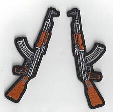 1 SETof 2  AK47 KALASHNIKOV RIFLES  IRON ON PATCHES BUY 2 SETS GET  3 SETS