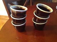 USA Pottery Brown Drip Custard/Ramekins-set of (6)