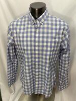 Bonobos Men's 'Slim Fit' Cotton Button Front Shirt Blue Check Size XL