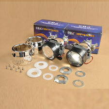 "2X 2.5"" Mini HID RHD Bi-xenon Projector Lens Kit Headlight Bulb Shroud H4 H7"