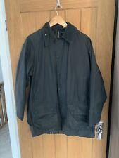 Mens Dark Blue Vintage Barbour Beaufort Wax Jacket C38.