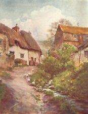 SUTTON. Mill Cottages Poyntz Overcome Trumpet-Maj 1906 old antique print