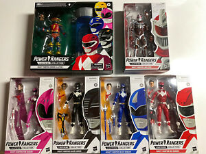 Power Rangers Lightning Collection Lot MMPR Blue Red Pink Black Zordon Alpha 5