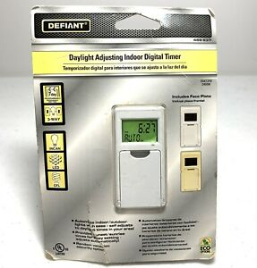 Digital Timer Switch Defiant Daylight Adjusting Indoor 469 637 New