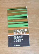 Hillman HUMBER SUNBEAM CANTANTE Guida di colore 1975