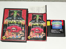Haunting Sega Genesis Complete Box Cartridge Instructions TESTED WORKS