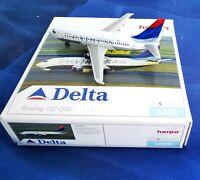 herpa delta express boeing 737-200 1:500 nr. 505857 in ovp sammlg selten!
