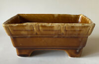 BRUSH MCCOY Planter Brown Mottled Rectangular Vintage USA Pottery