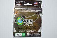 power pro braided fishing line super 8 slick V2  15lb 300yd spool moss green