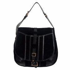Belstaff 100% Leather Black Adjustable Strap Women's Satchel Shoulder Bag