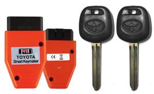 2 NEW TOYOTA UNCUT TRANSPONDER 4D CHIP Keys With Programmer USA Seller A+++