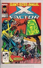 X-Factor Annual #2 Signed by Bob Layton & Jim Shooter W/COA (1987, Marvel)