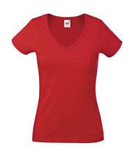 Magliette da donna rosse con scollo a v taglia S