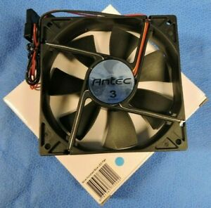 NEW Antec Blue LED Tri-Cool PC Case Fan 120mm 4-Pin 3-Speed Computer Cooling FAN