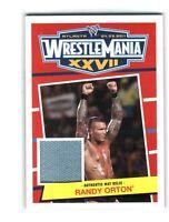 WWE Randy Orton 2012 Topps Heritage WrestleMania 27 EventUsed Mat Relic Card DWC