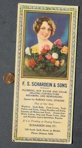 1920-30 Era Louisville Kentucky Pretty Pinup Girl Plumbing-Heating ink blotter!