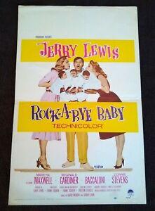 "Rock-A-Bye Baby 1958 Vintage Window Card (14"" x 22"") Jerry Lewis"