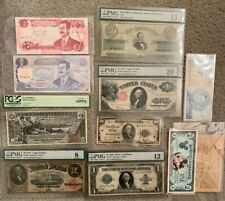 Us Silver Certificate & Paper Money Lot Including 1896 $1 Dollar Pcgs 65Ppq Note