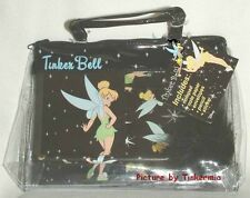 NEW DISNEY BLACK TINKER BELL STATIONARY SET IN TOTE BAG NOTEPAD PENCIL STICKERS
