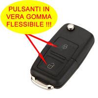 2-bottoni Guscio Cover Chiave COMPATIBILE CON Volkswagen Polo Golf Passat Bora y