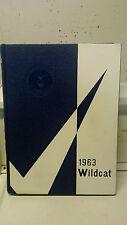 """Original 1963 North Little Rock High School Yearbook """"Wildcat"""" N. Little Rock AR"""
