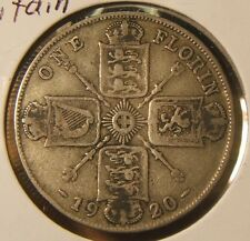 1920~~GREAT BRITAIN~~ONE FLORIN (2 SHILLINGS)~~SILVER BEAUTY