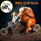 Chicken Stand Roaster Stainless Motorcycle Glasses Rack Beer BBQ Grill Holder