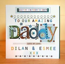 Father's Day Daddy card personalised very special card. FATHERS DAY Dada Dad