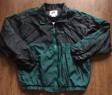 Mens Vintage Forrest Green Nike Swoosh Windbreaker Lightweight Track Jacket Sz M