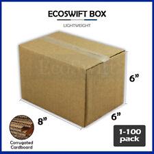 1 100 8x6x6 Ecoswift Cardboard Packing Mailing Shipping Corrugated Box Cartons
