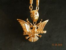 MIP- GOLD TONE Harlem World Diplomats pendant w/ matching 30 inch chain