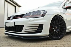 Diffusor Frontlippe für VW Golf 7 GTI GTD VII ABS Frontspoiler Lippe Matt V2
