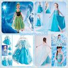Robe Déguisement Costume La Reine des Neiges Frozen Elsa Anna Enfant Fille NEUF