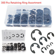 300 Pcs 9 Size Circlips Ring Snap Retaining Washer Buckle Lock Rings Assortment