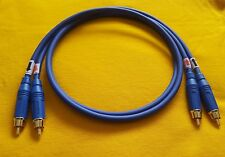 Mogami 2534 Interconnect Cable Amphenol ACPR-BLU RCA Connector Plugs Blue 6 ft
