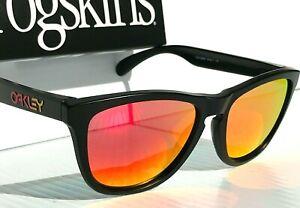 NEW* Oakley Frogskins Black VR46 frame w POLARIZED Galaxy Mirror Sunglass 9013