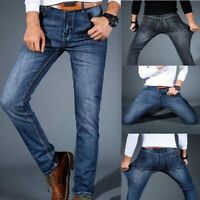 Mens Slim Fit Stretch Jeans Comfy Fashionable Super Flex Denim Pants Trousers