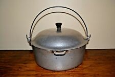 VTG CLUB HAMMERCRAFT HAMMERED ALUMINUM DUTCH OVEN W/ DRIP LID BAIL HANDLE 4 QT