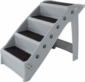 Folding Plastic Pet Stairs Collection - Durable Indoor/Outdoor PETMAKER